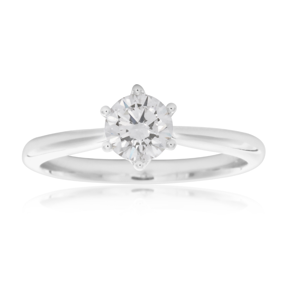 Luminesce Laboratory Grown 3/4 Carat Diamond Ring in 18ct White Gold 6Claw Setting