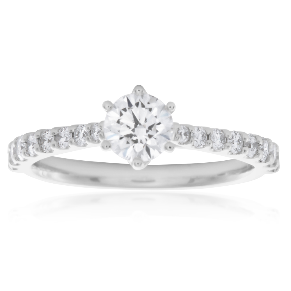 Luminesce  Laboratory Grown 18ct White Gold 0.80 Carat Diamond Ring