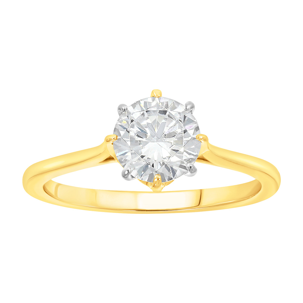 9ct Yellow Gold  1 Carat Diamond Solitaire Ring