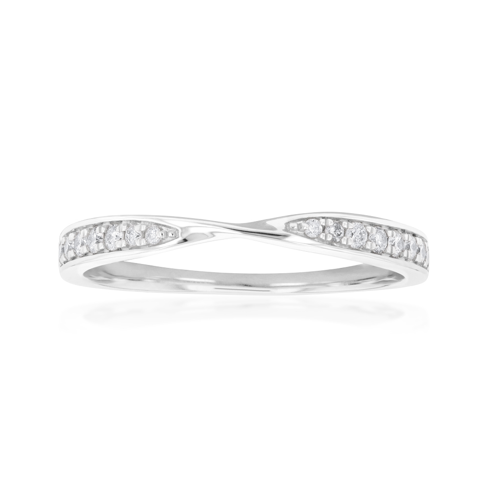 9ct White Gold Diamond Eternity Ring with 16 Brilliant Cut Diamonds