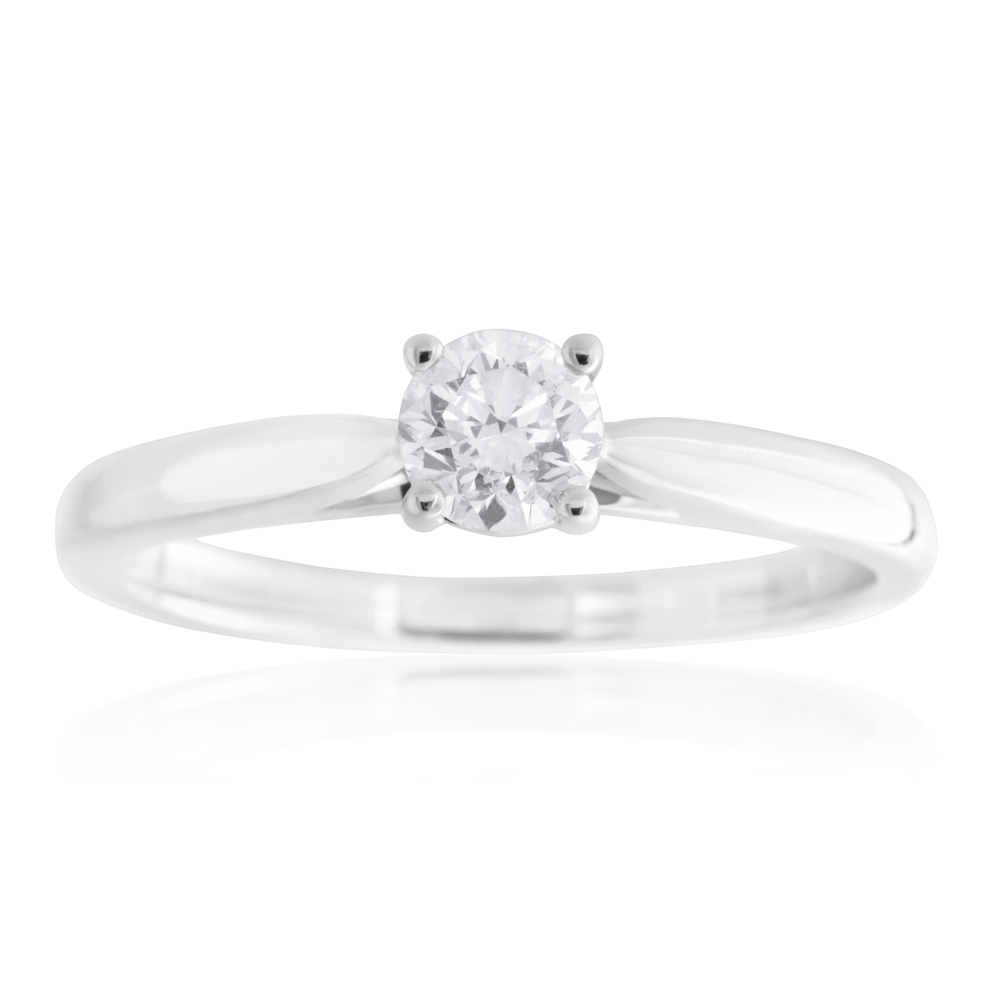 18ct White Gold 0.55 Carat Diamond Ring