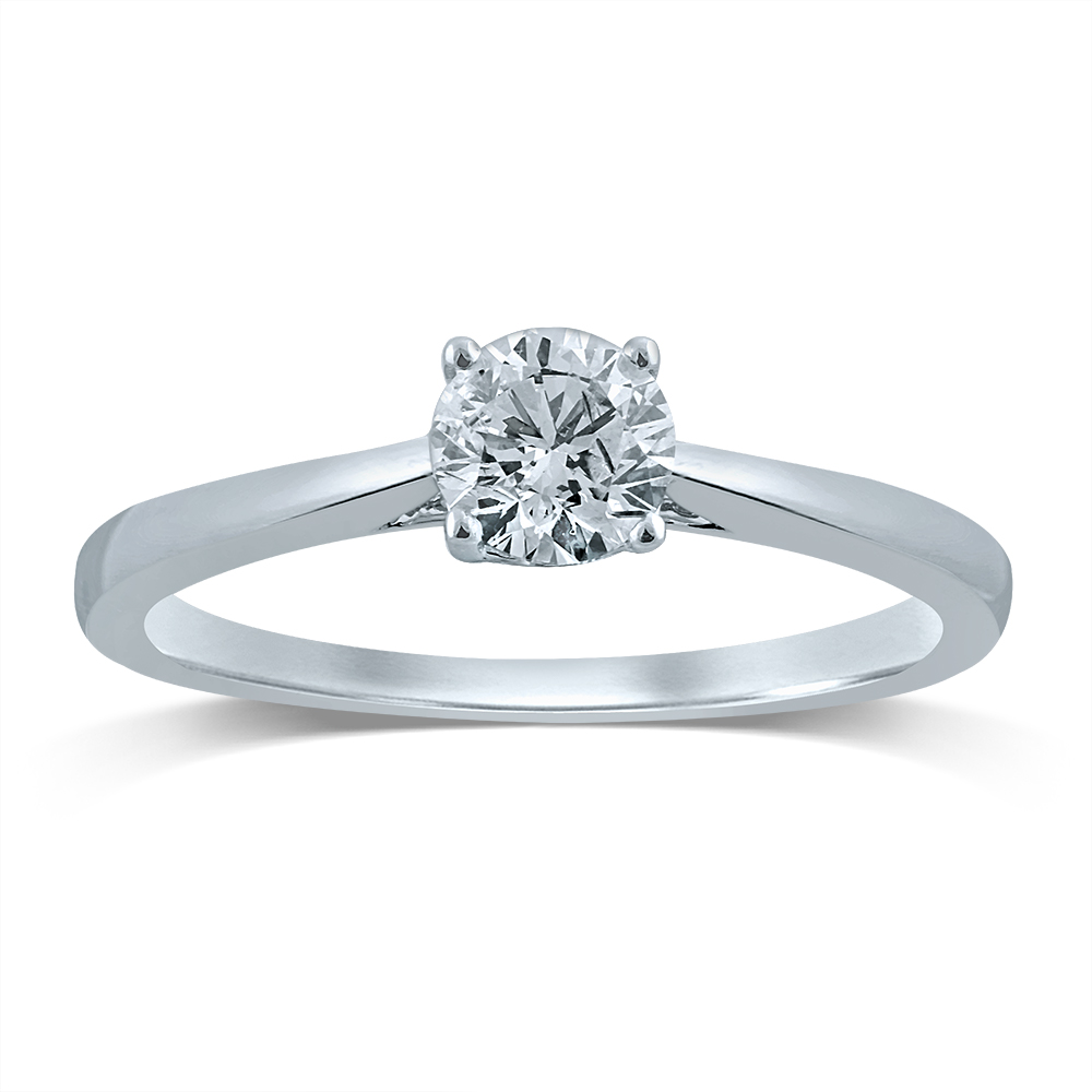 Luminesce Lab Grown18ct White Gold 1/2 Carat Diamond Solitaire Ring
