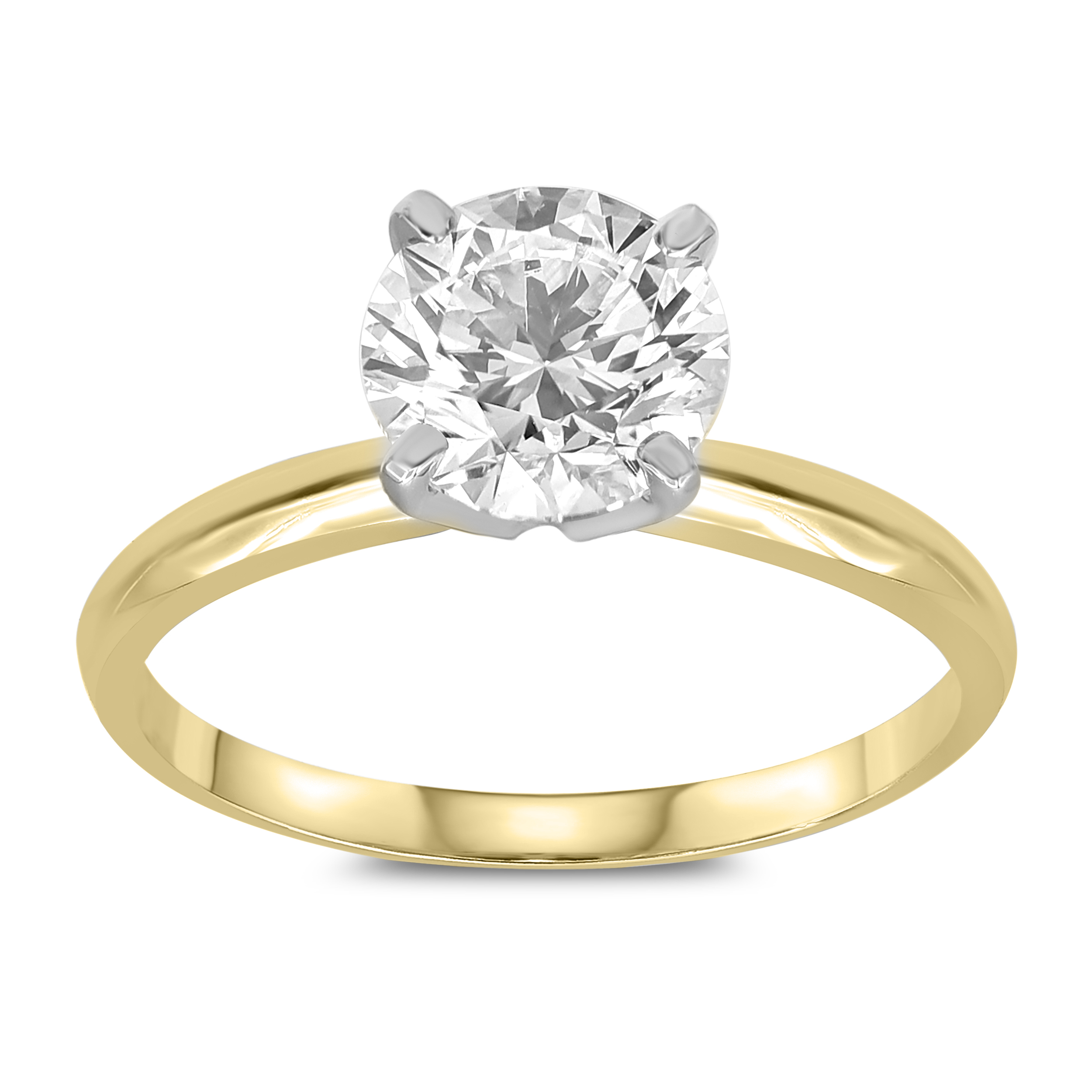 Luminesce Lab Grown Diamond 3/4 Carat FH VS/SI 14ct Yellow Gold Solitaire Ring