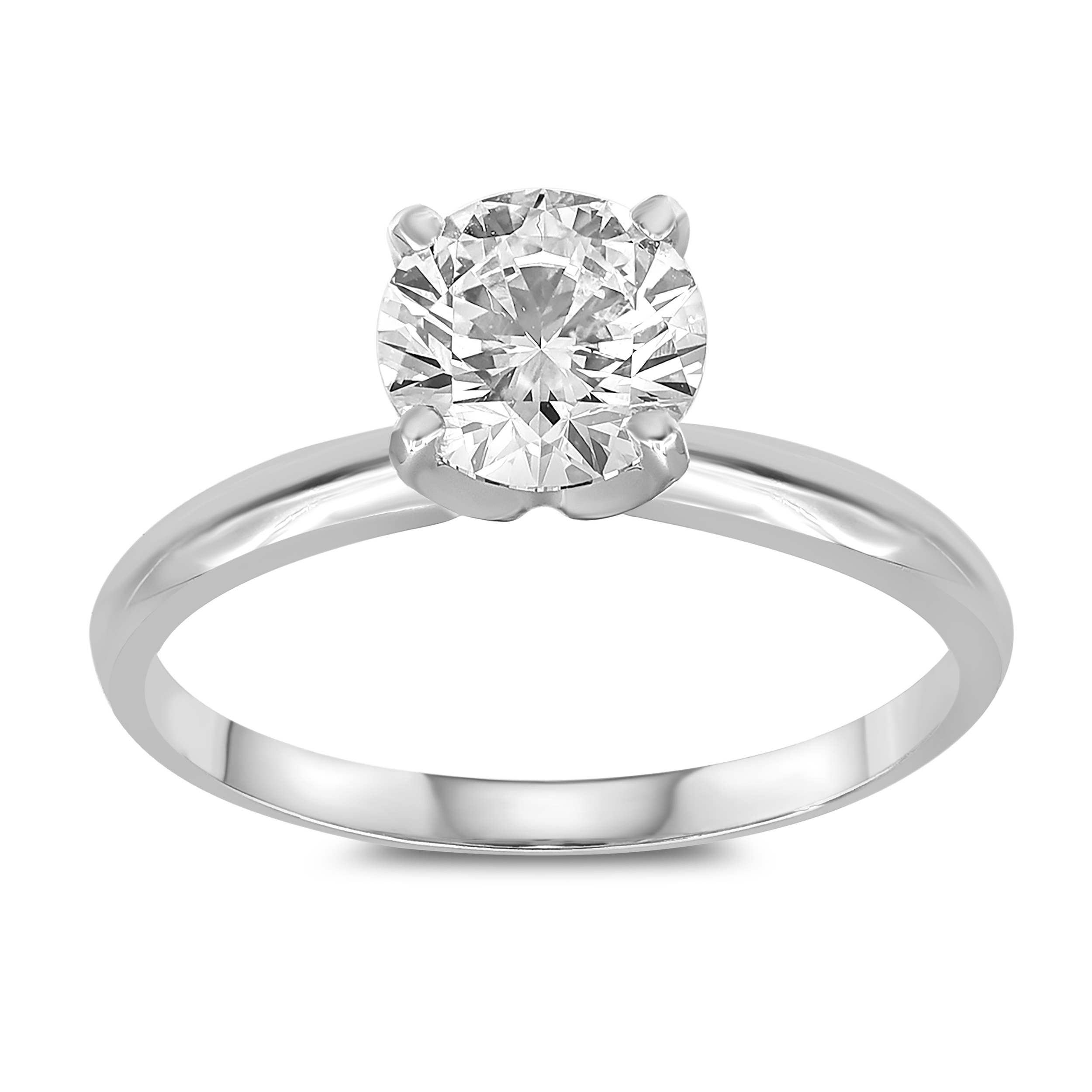 Luminesce Lab Grown Diamond 1/2 Carat 14ct White Gold FH VS/SI Solitaire Ring