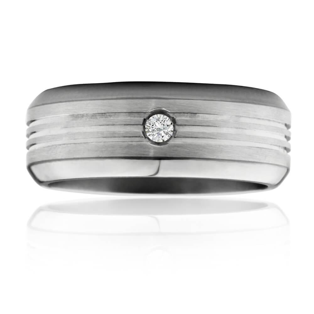 Flawless Cut Titanium 8mm Ring