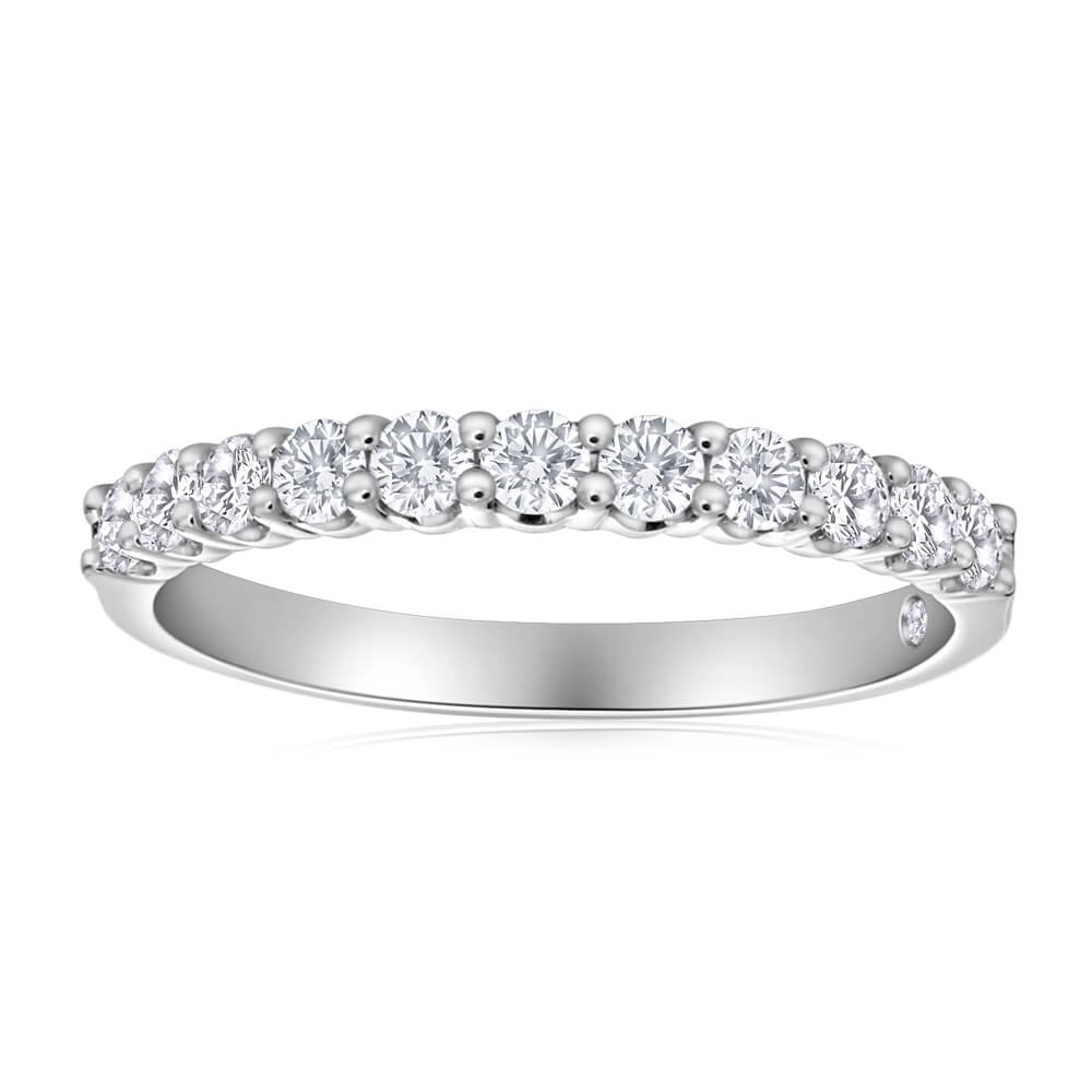 Flawless Cut 18ct White Gold Diamond Ring (TW=1/2 Carat)