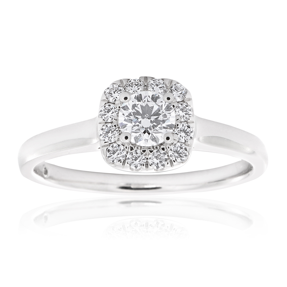Flawless 18ct White Gold  with 1/2 carat Diamond
