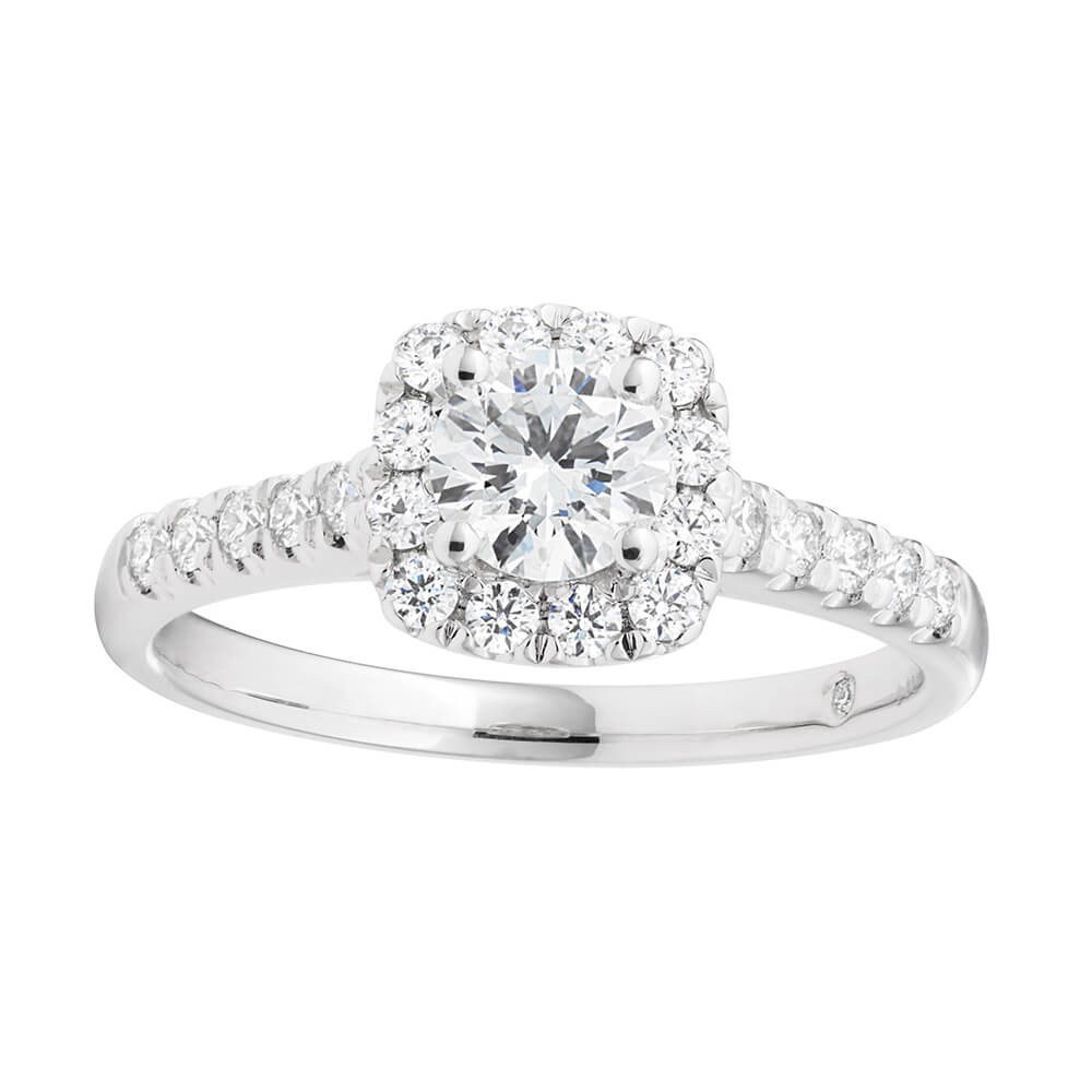 Flawless Cut Platinum Diamond Ring