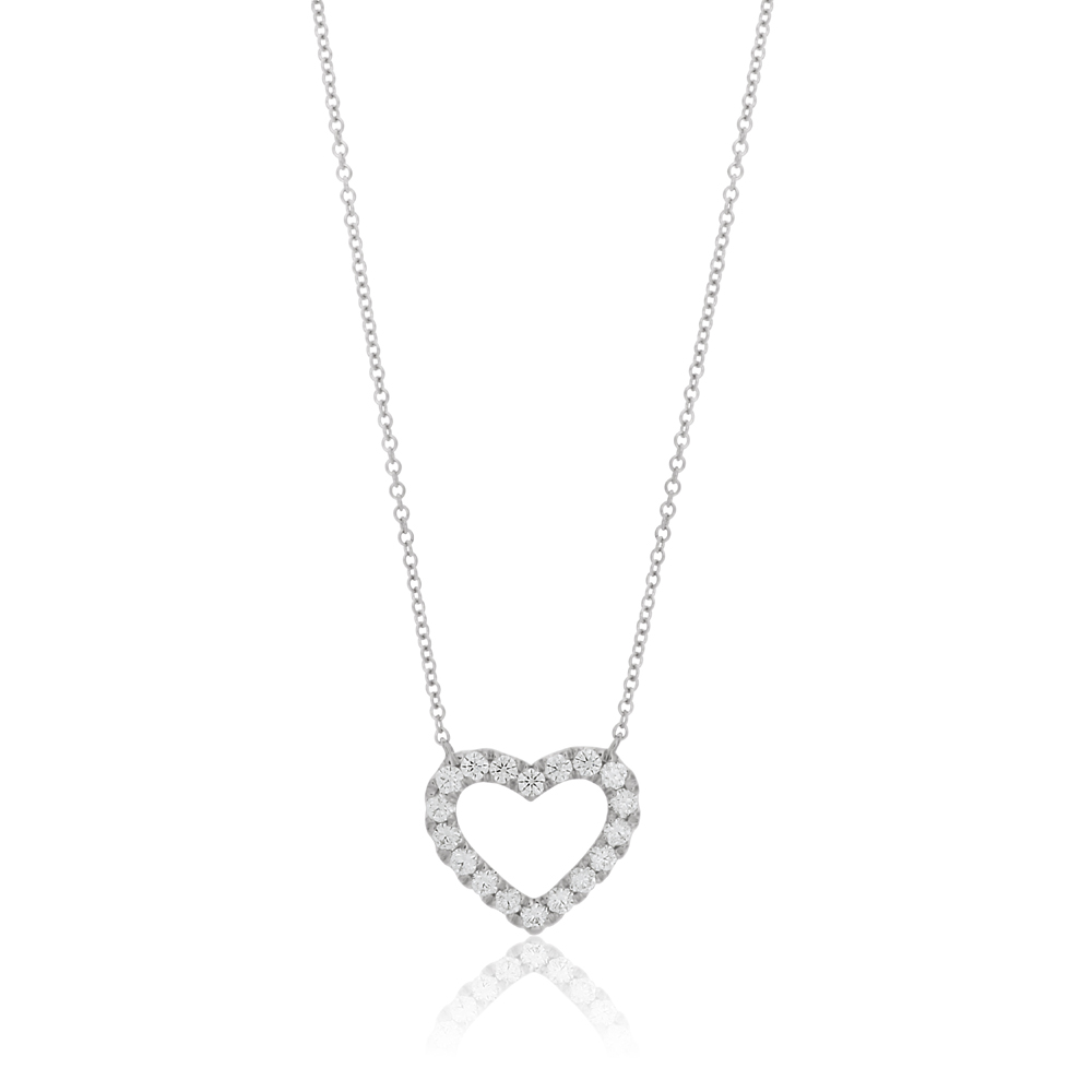 Flawless Cut 9ct White Gold Pendant With 0.25 Carats Of Diamonds - Chain Included