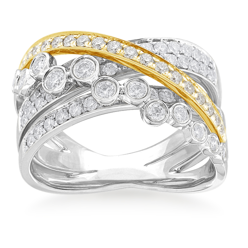 Flawless Cut 1 Carat 9ct White & Yellow Gold