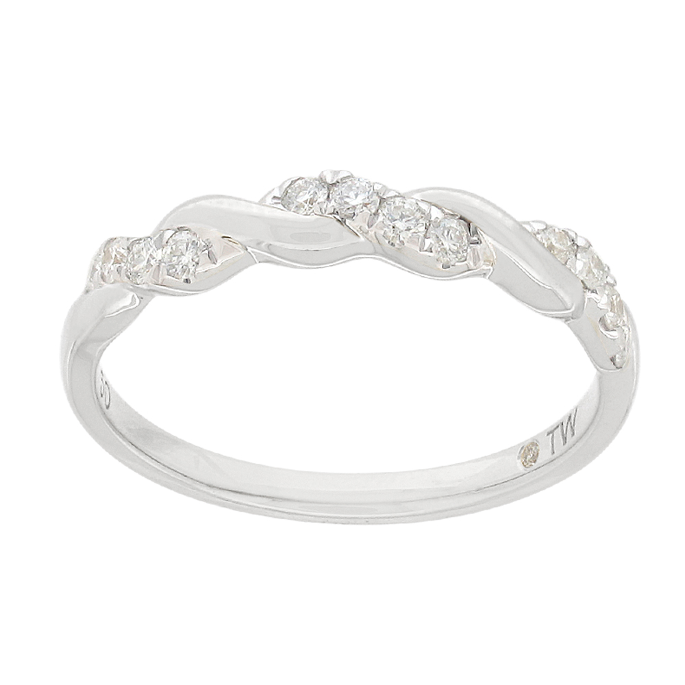 Flawless Cut 15point 9ct White Gold