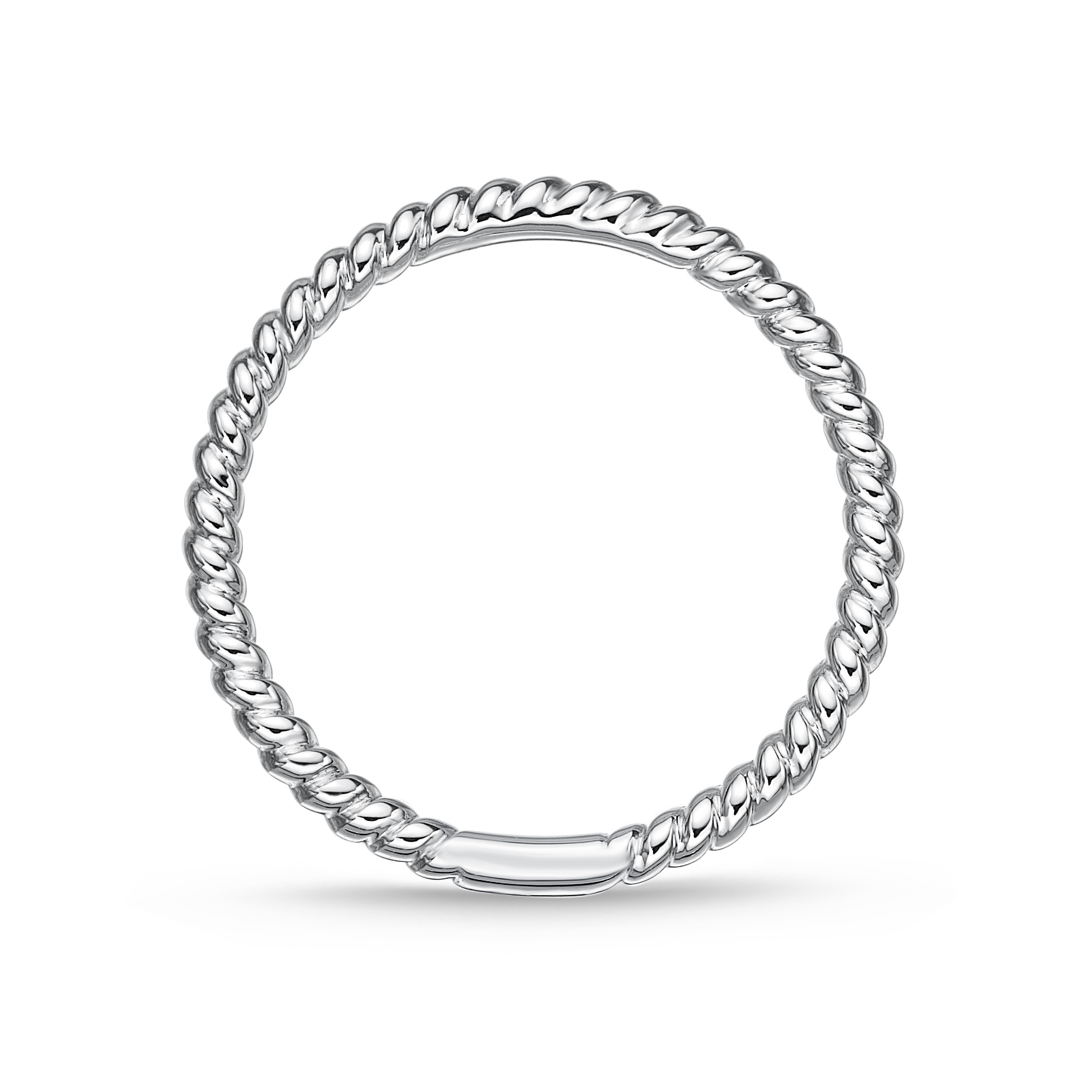 Memoire 18ct White Gold Twisted Stack Ring