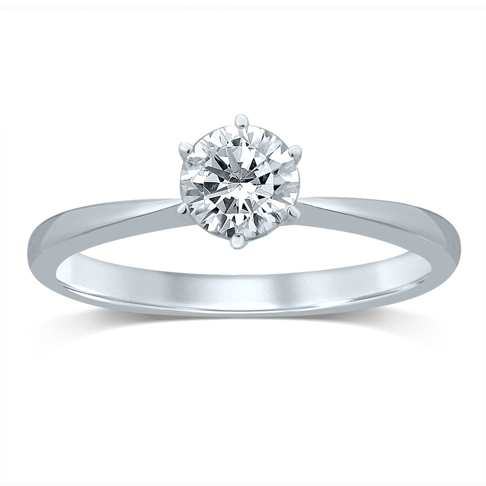 Luminesce Lab Grown 18ct White Gold 1/2 Carat Diamond Ring