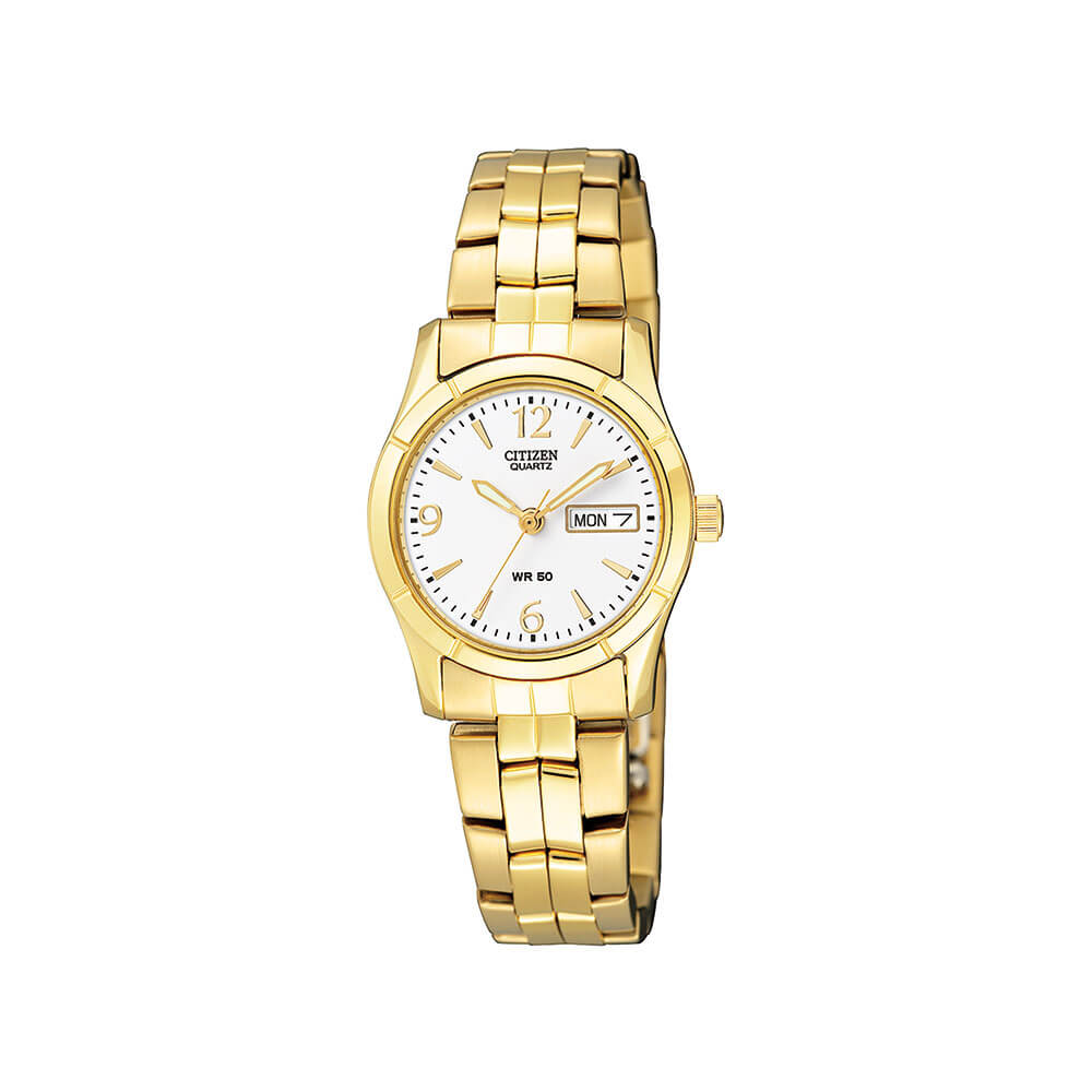 Citizen EQ0542-51A Womens Gold Tone Watch