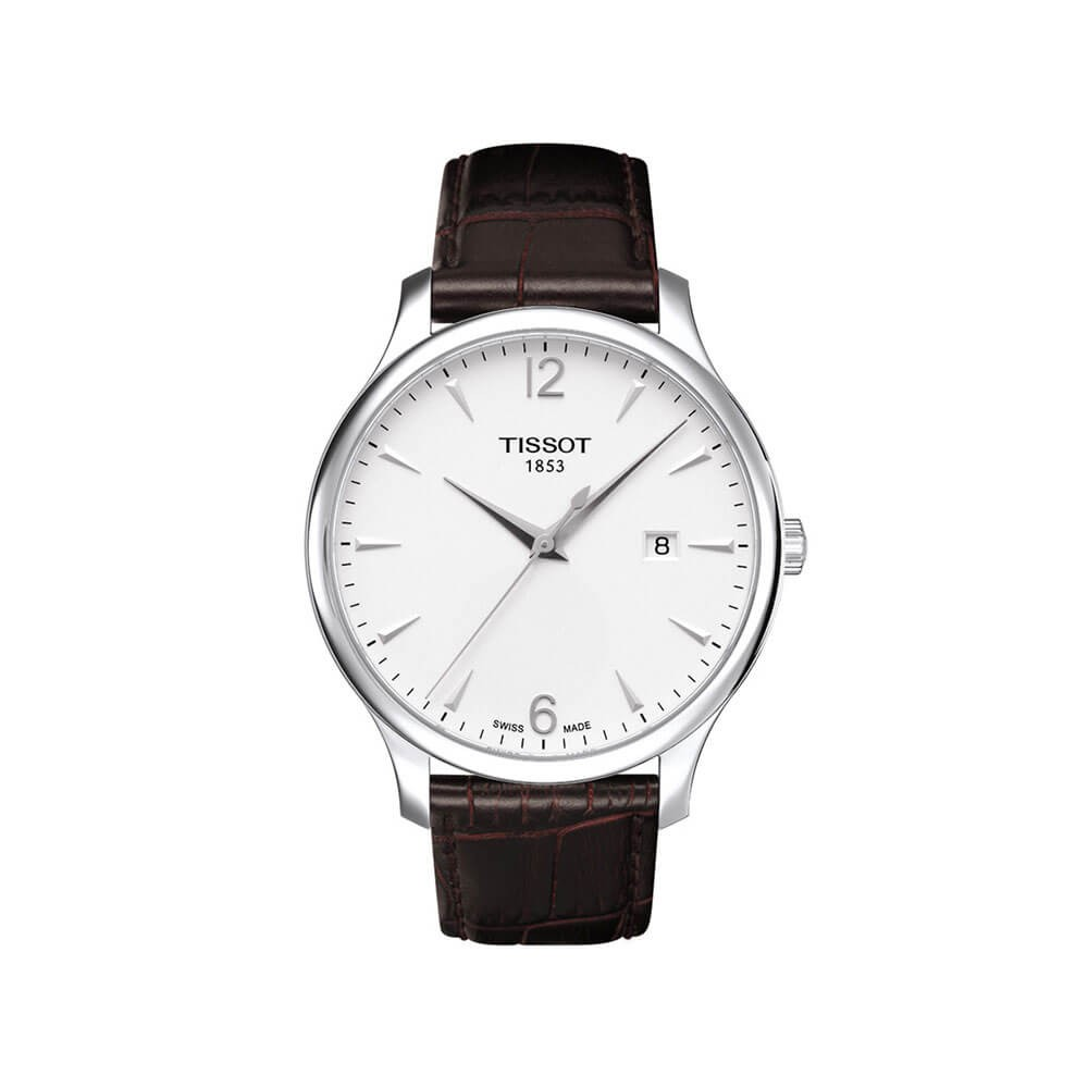 Tissot Tradition T0636101603700 Brown Leather Mens Watch