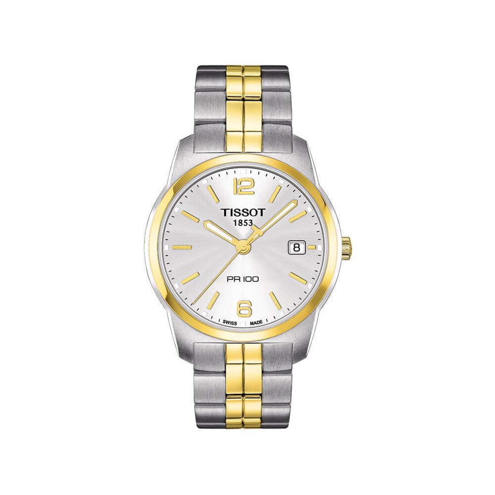 Tissot PR100 T1014102203100 Two-Tone Stainless Steel Mens Watch