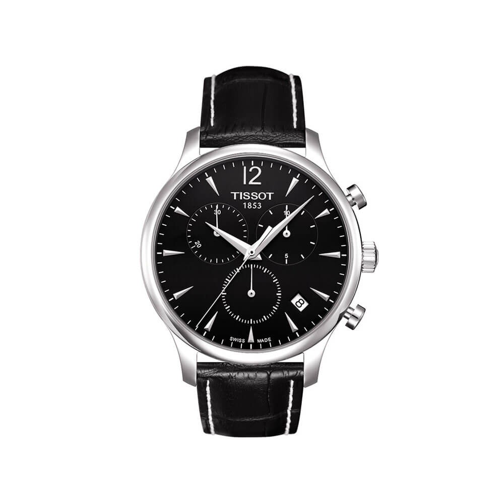 Tissot Tradition T0636171605700 Black Leather Mens Watch