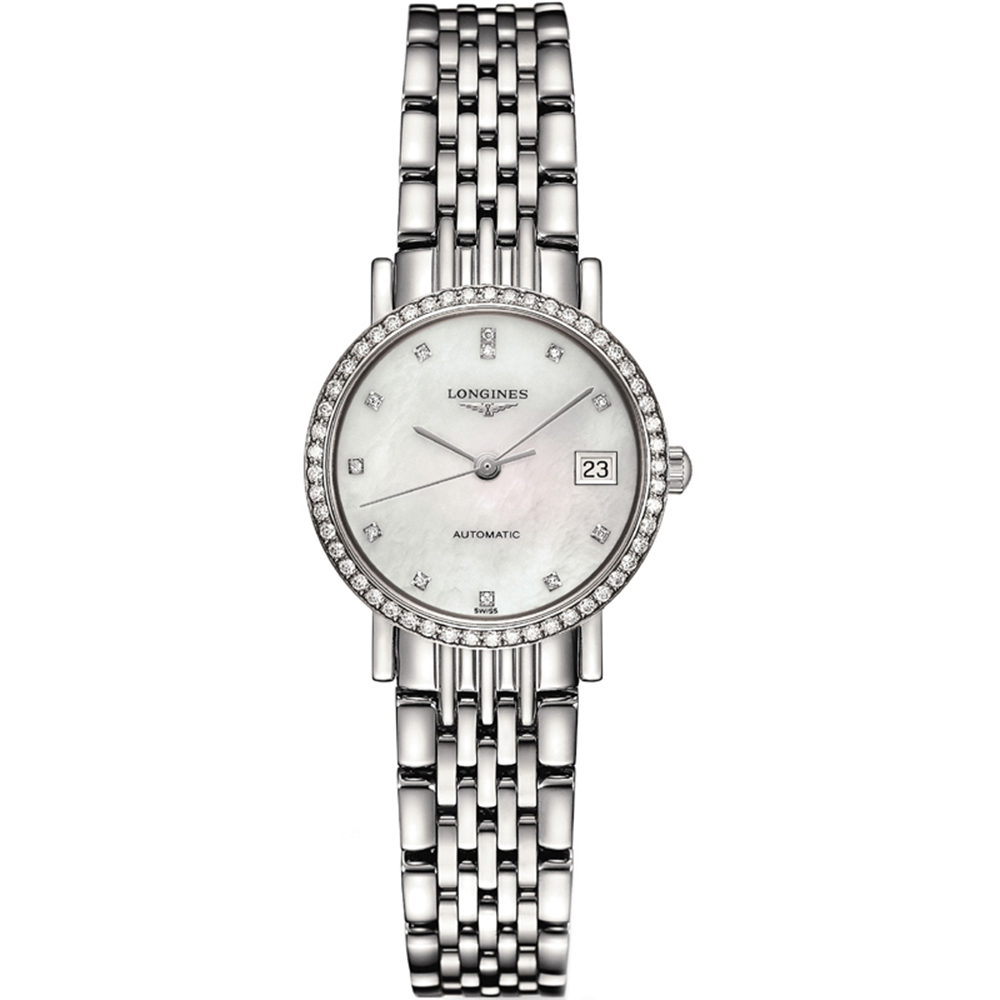 Longines Elegant L43090876 Silver Stainless Steel Womens Watch