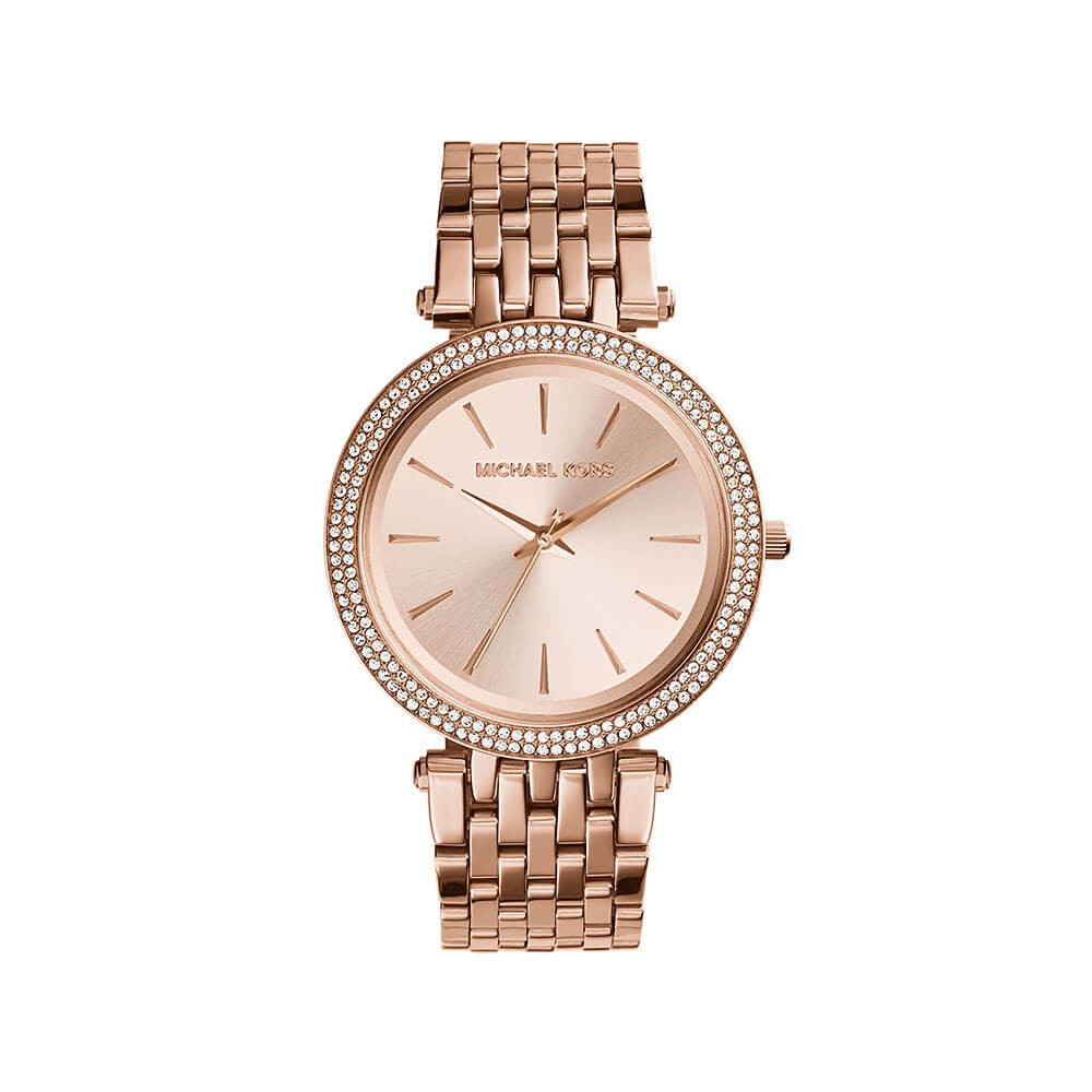 Michael Kors MK3192 Darci Stone Set Rose Gold Tone Womens Watch