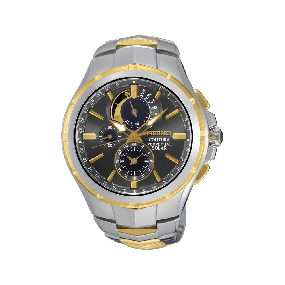 Seiko SSC376P-9 Coutura Chronograph Perpetual Solar Mens Watch
