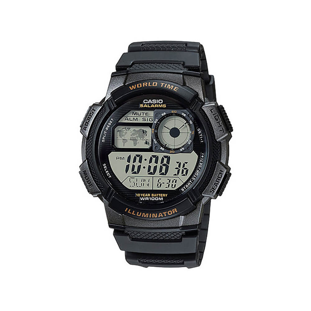 Casio AE1000W-1A World Time Mens Watch