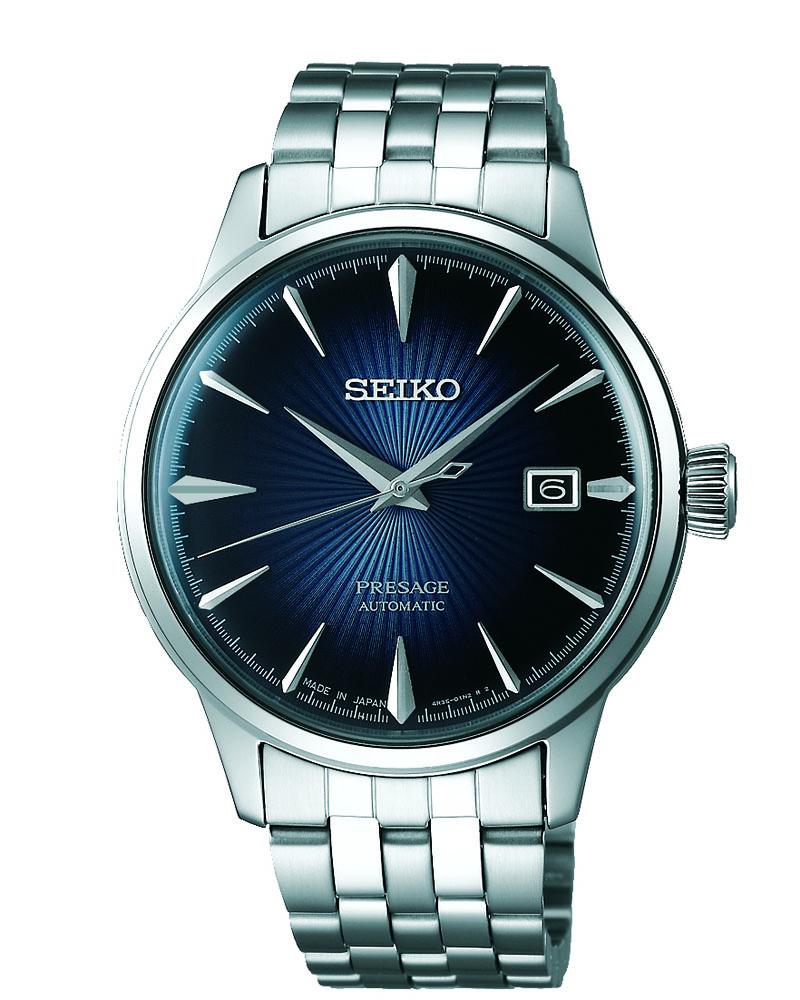 Seiko Presage SRPB41J Automatic 'Blue Moon Cocktail Time' Mens Watch
