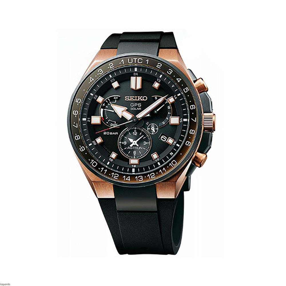 Seiko Astron SSE170J GPS Solar Titanium Mens Watch