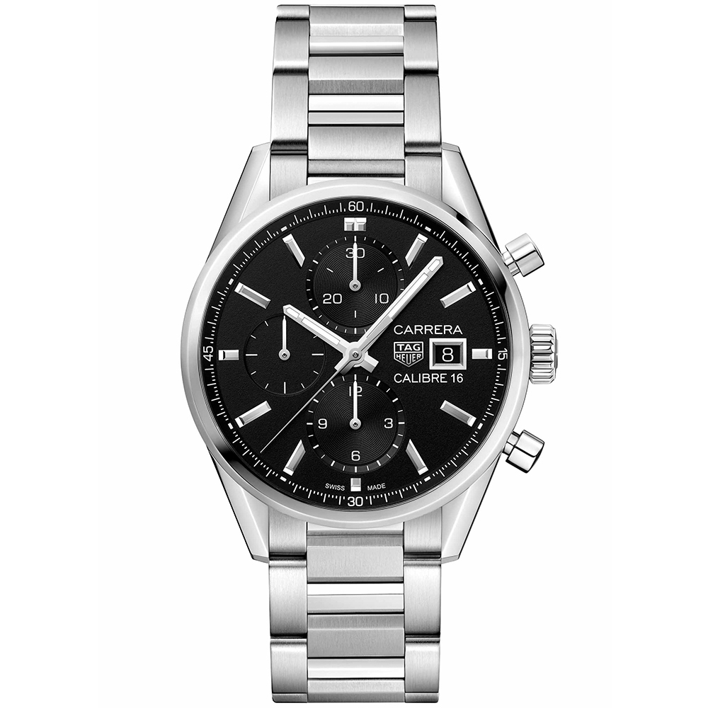 Tag Gents Carrera CBK2110BA0715 Silver Stainless Steel Mens Watch