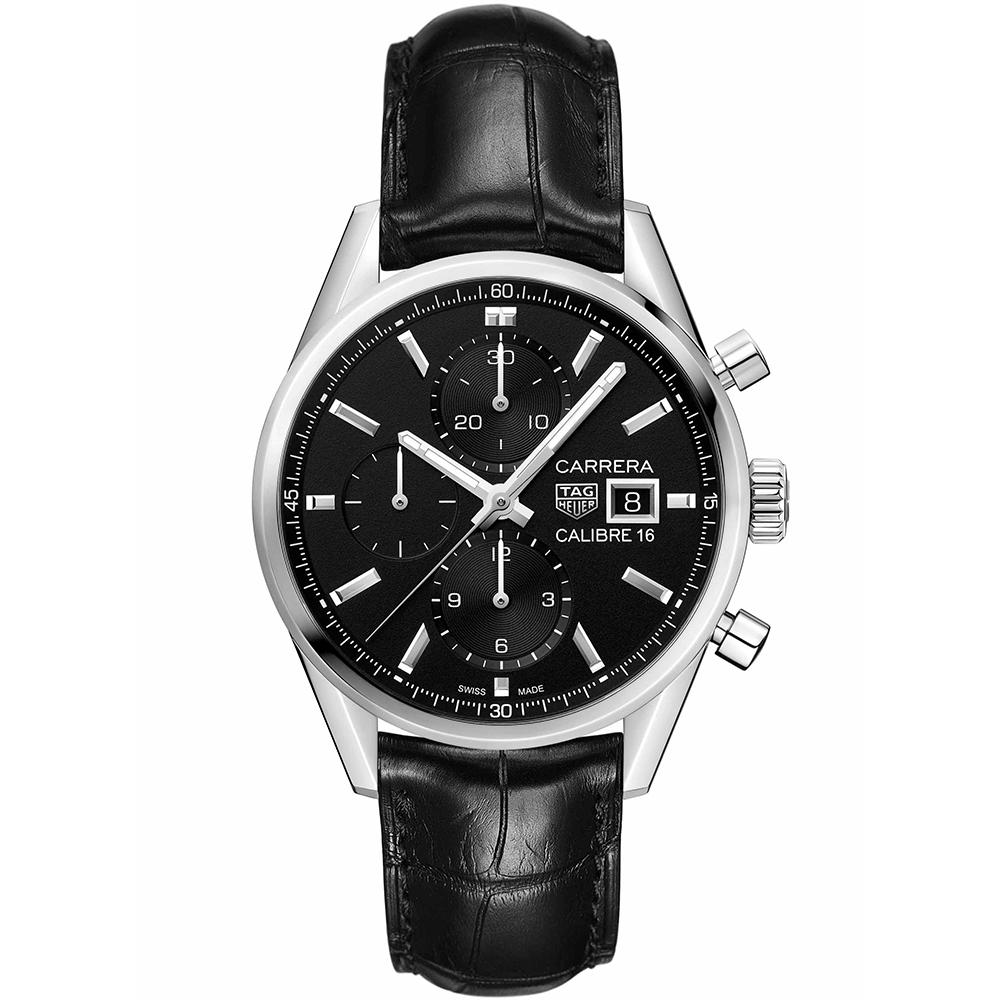 TAG Heuer Carrera CBK2110FC6266 Black Leather Mens Watch