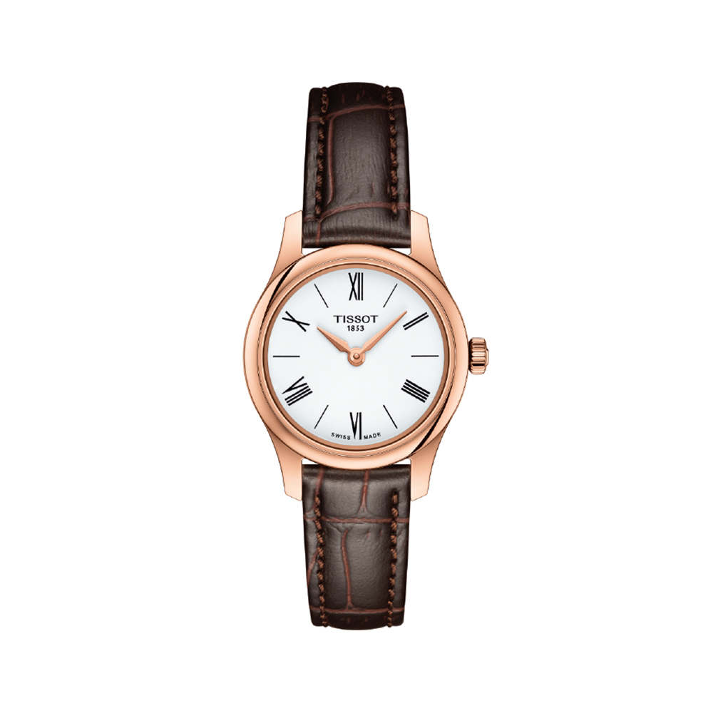 Tissot Tradition Lady T0630093601800 Brown Leather Womens Watch