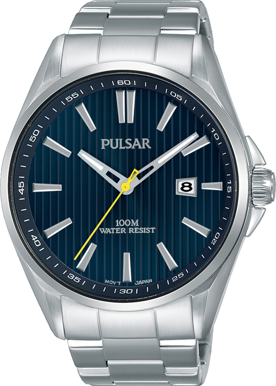Pulsar PS9603X Silver Stainless Steel Mens Watch