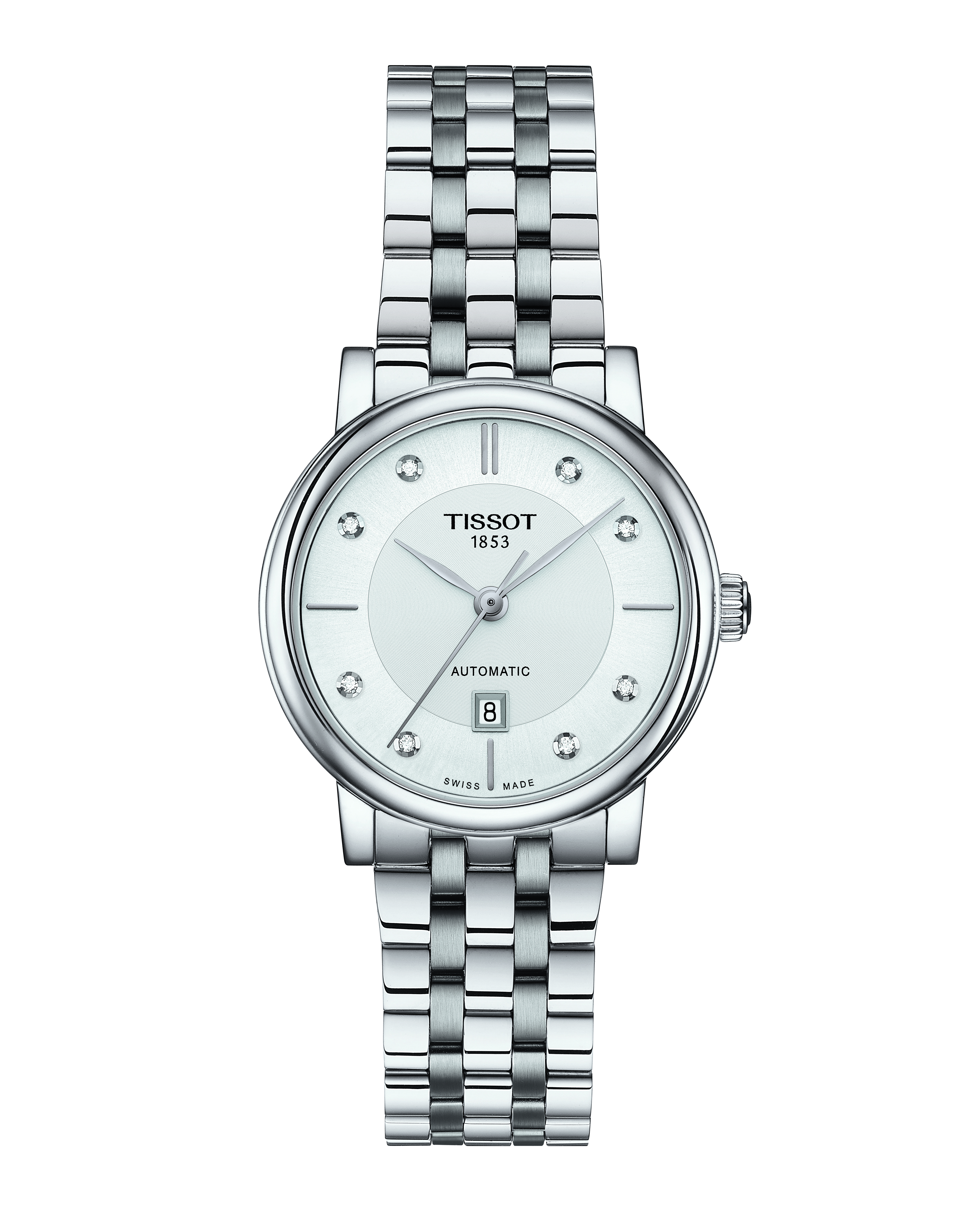 Tissot Carson Diamond Automatic T1222071103600 Stainless Steel Mens Watch