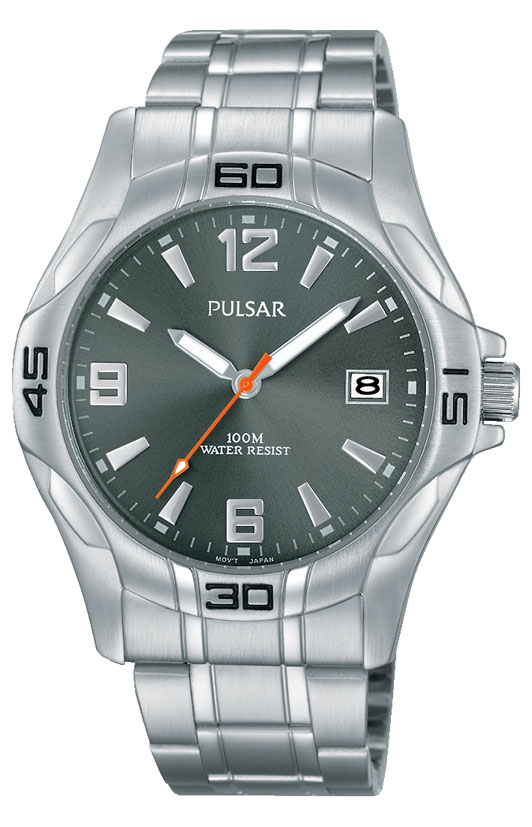 Pulsar PXHA53X Silver Stainless Steel Mens Watch