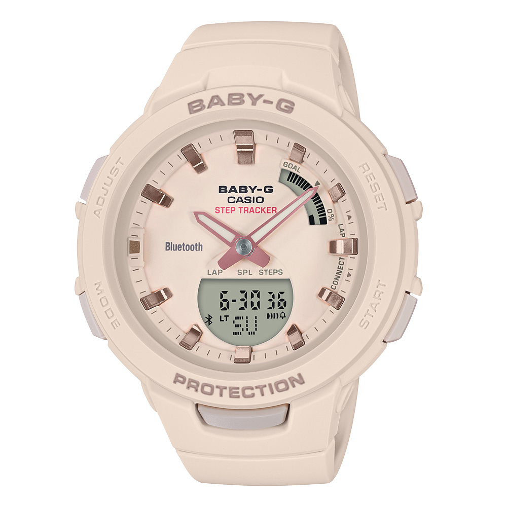 Baby-G BSAB100-4A1 Beige Resin Womens Watch