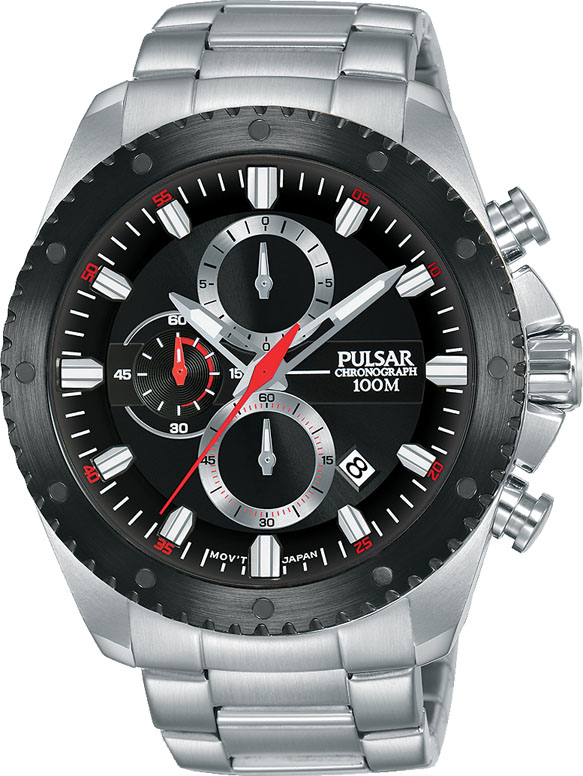 Pulsar Super Cars PM3143X Silver Stainless Steel Mens Watch