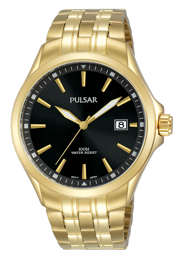Pulsar PS9626X Gold Stainless Steel Mens Watch