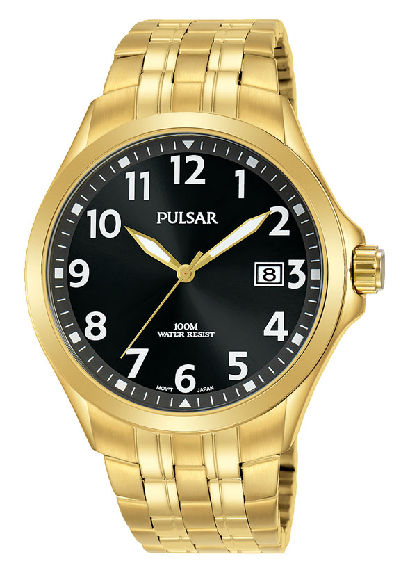 Pulsar PS9634X Gold Stainless Steel Mens Watch