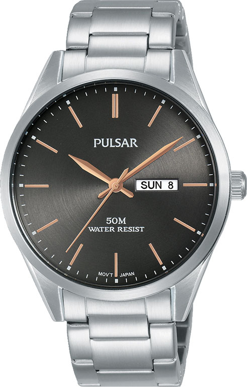 Pulsar PJ6111X Silver Stainless Steel Mens Watch