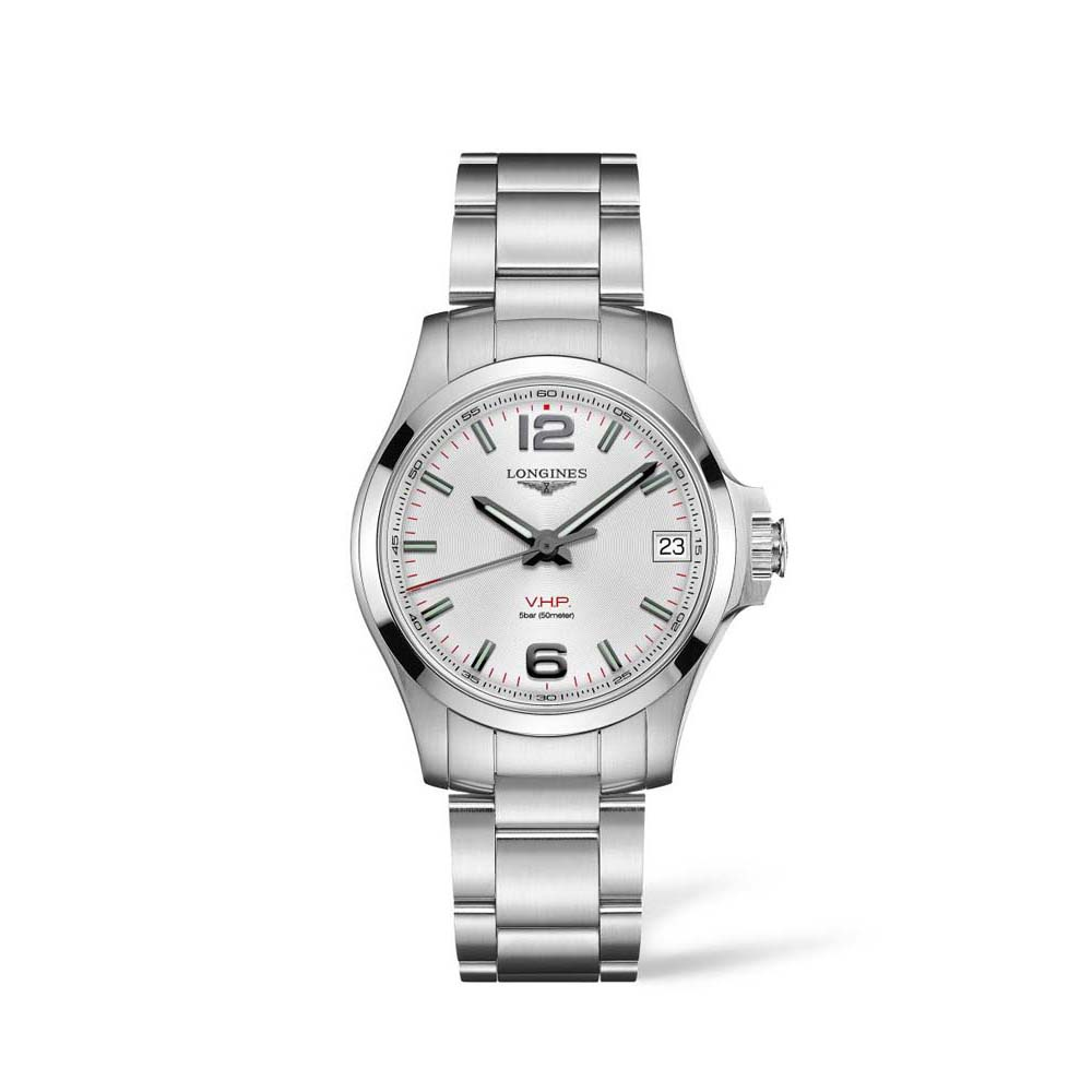 Longines Conquest VHP L33160876 Silver Stainless Steel Womens Watch