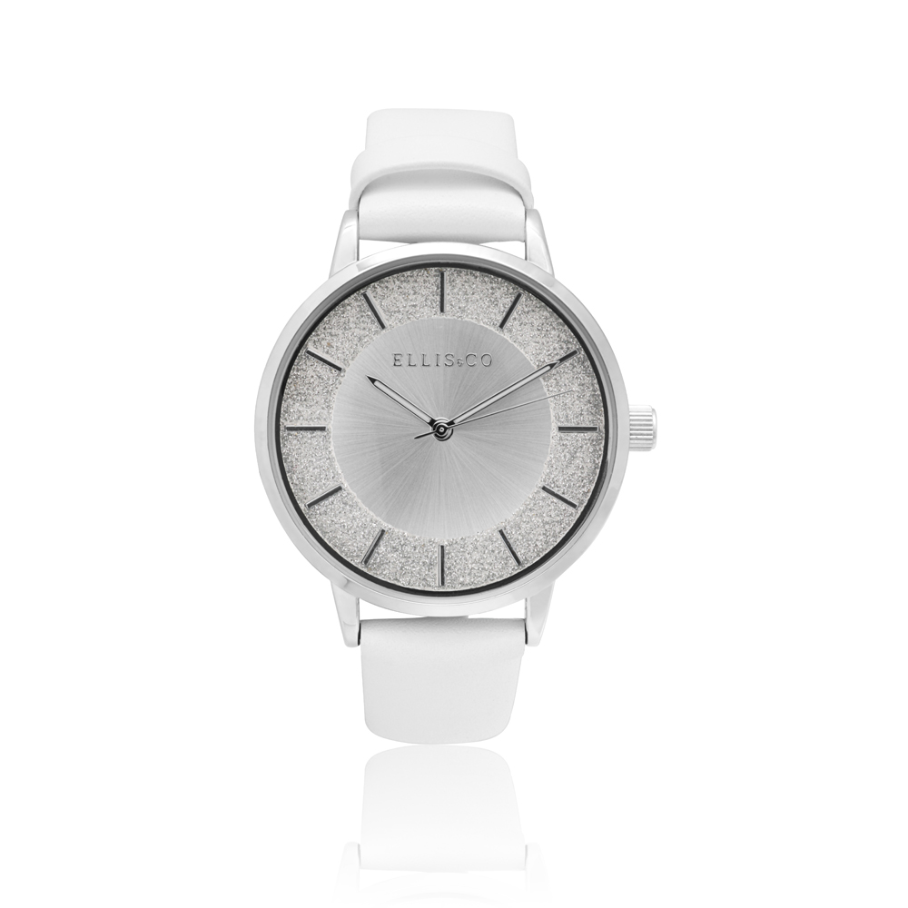 Ellis & Co Lucia White Leather Womens Watch