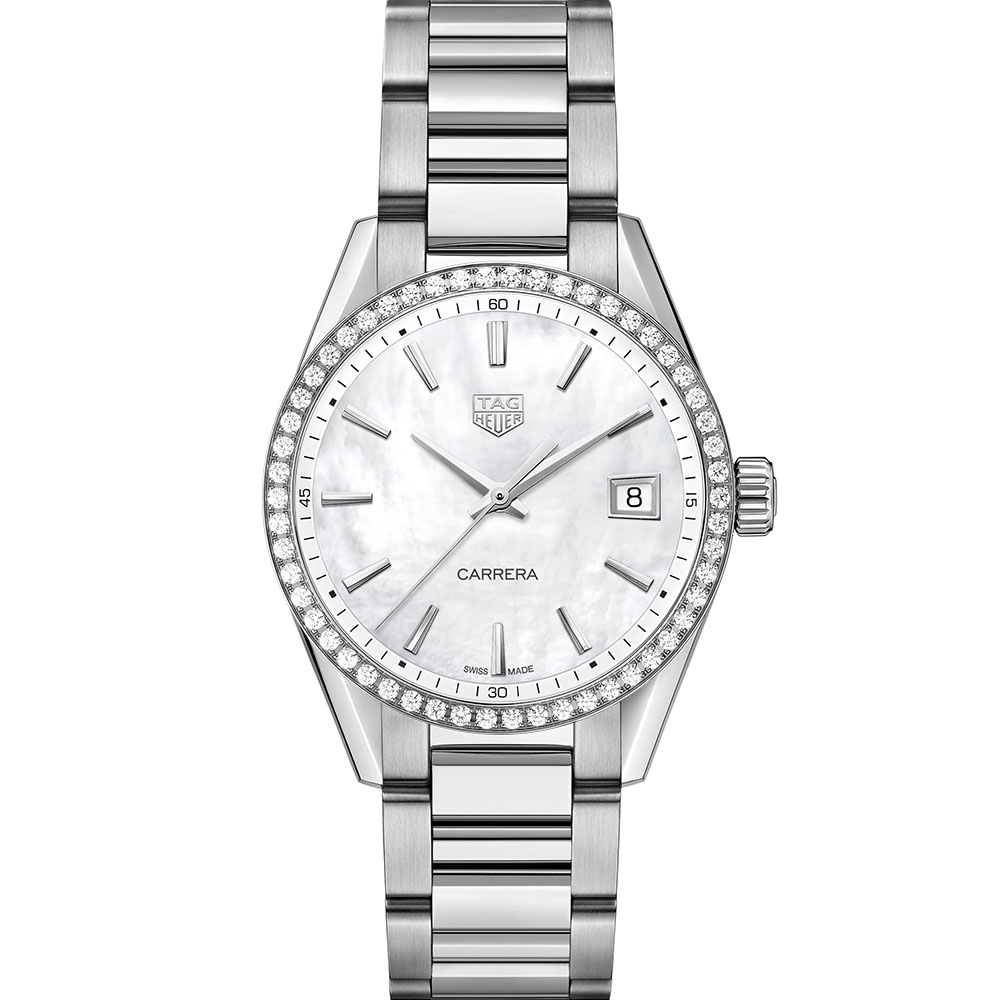 TAG Heuer Carrera Lady WBK1316BA0652 Silver Stainless Steel Womens Watch