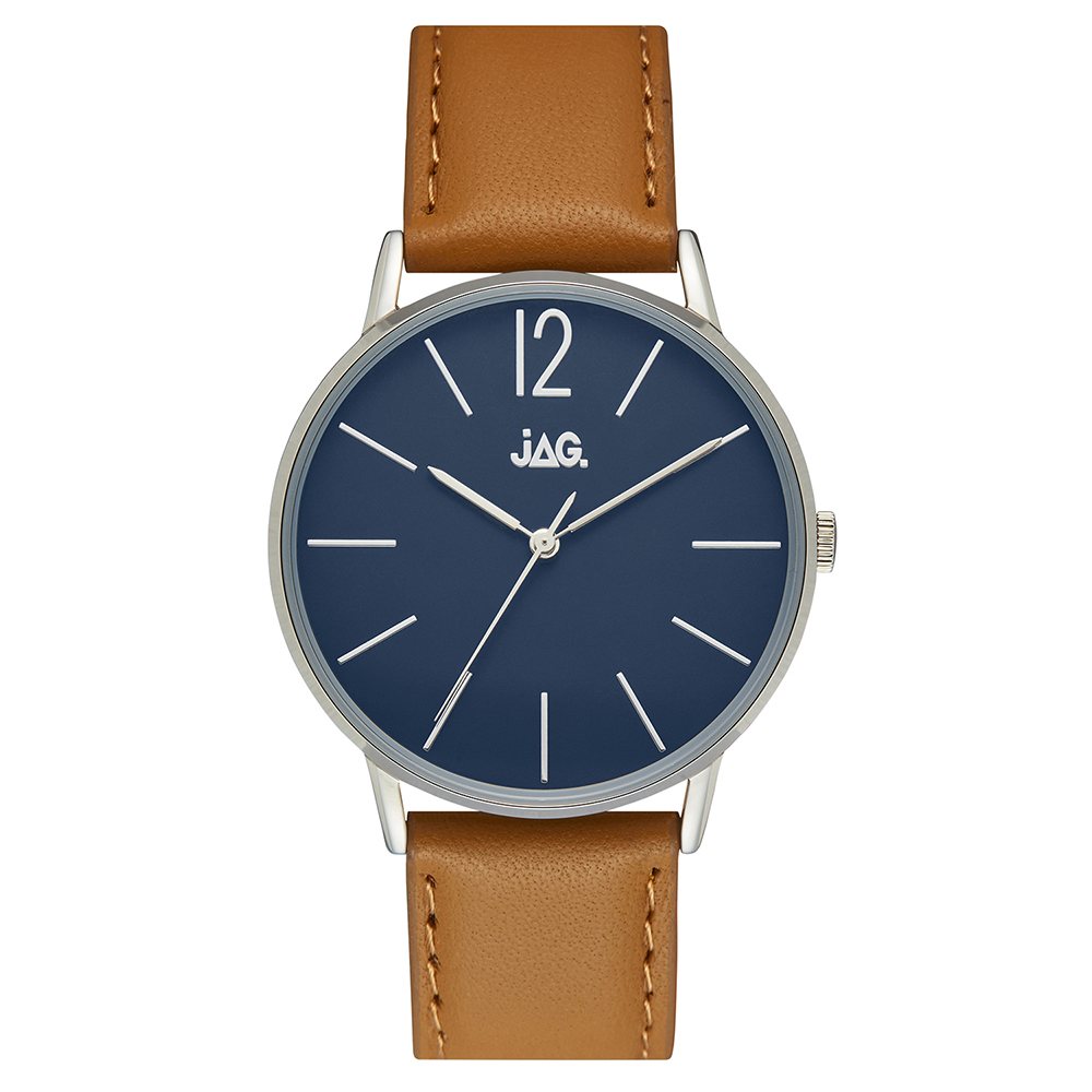 Jag Billy J2256 Brown Leather Mens Watch