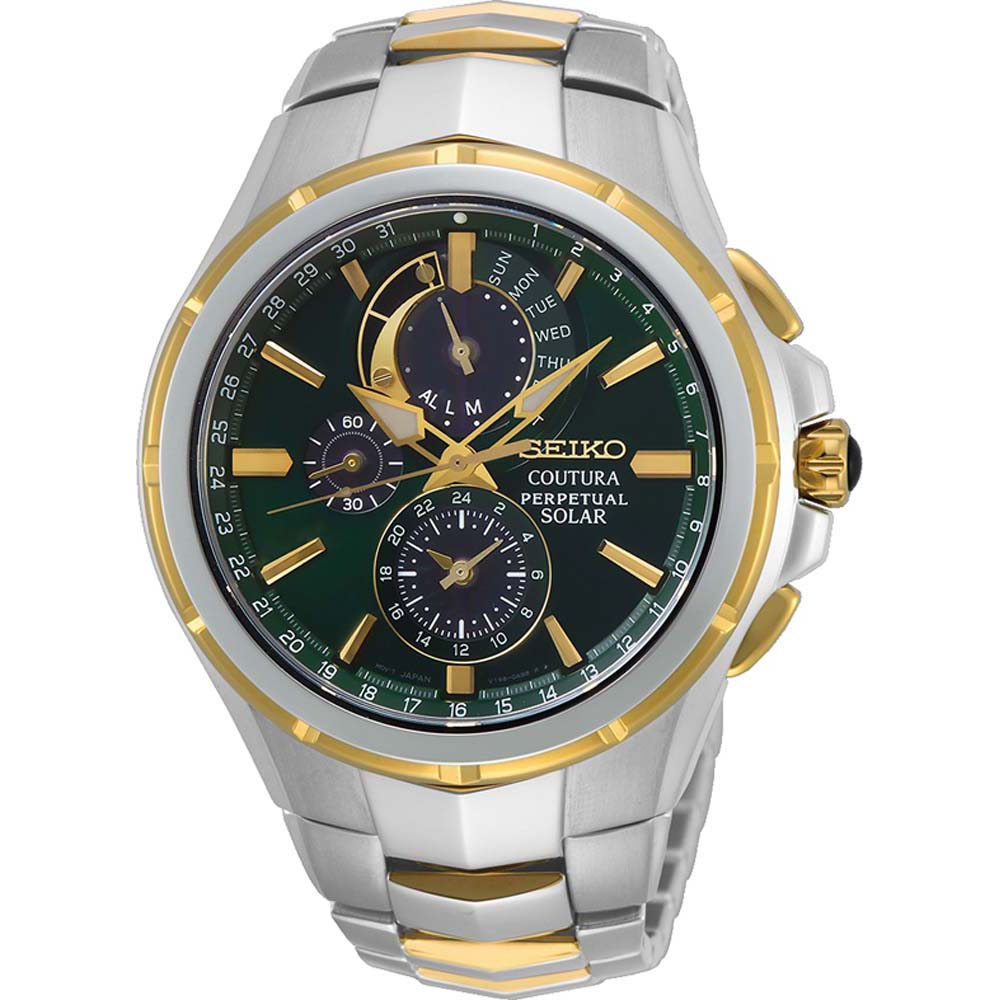 Seiko Coutura SSC764P Solar Perpetual Calendar Stainless Steel Mens Watch