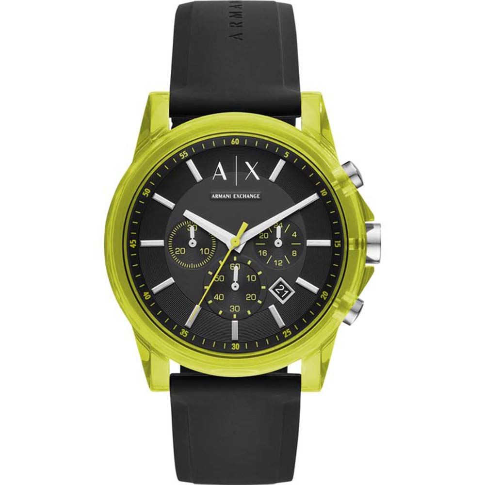 AX1337 AX Outer Banks Silicone Green Watch
