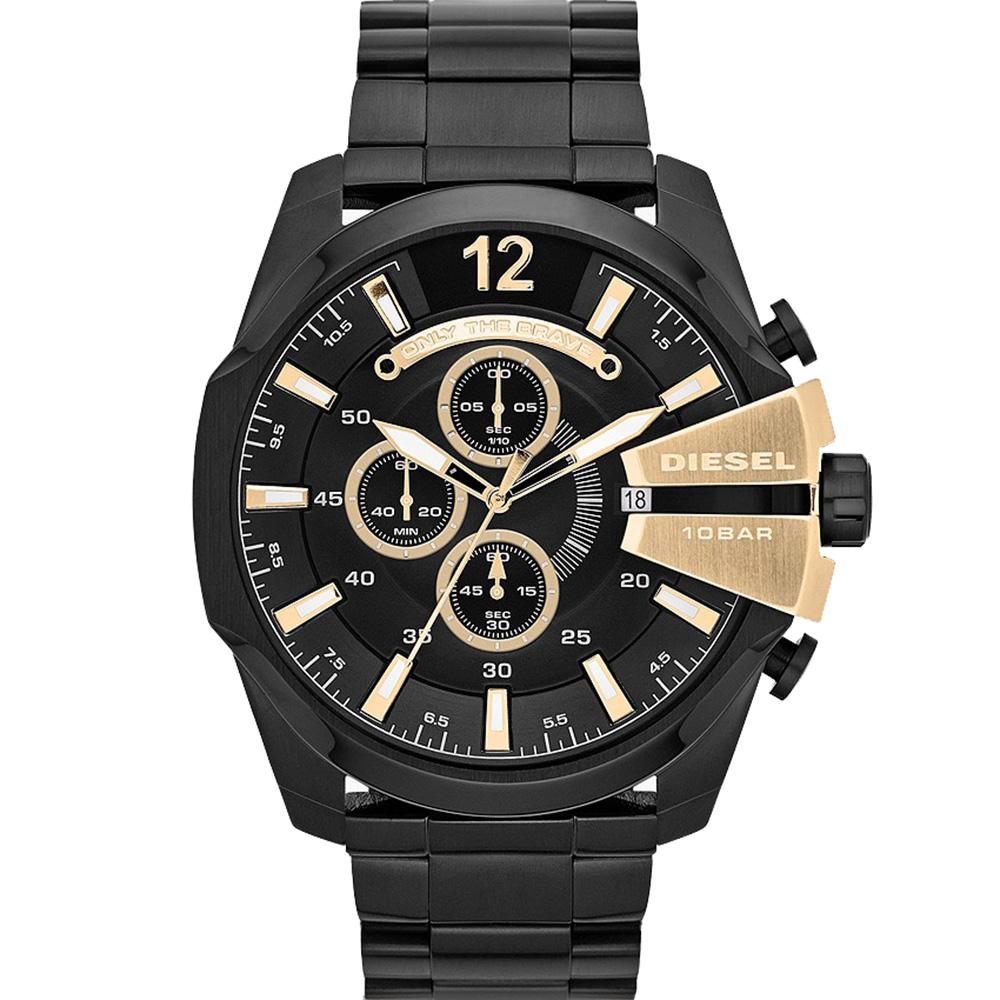 Diesel Mega Chief DZ4338 Chronograph Black Mens Watch