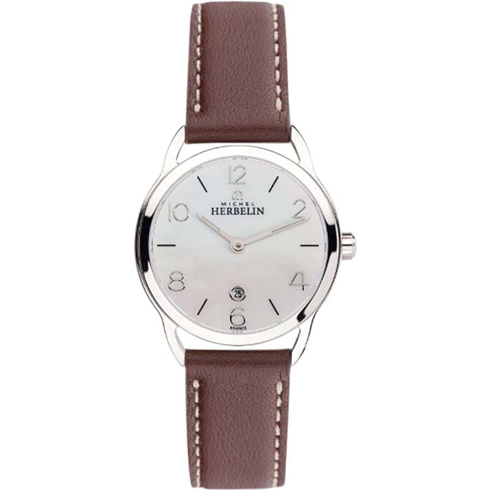 Michel Herbelin Equinoxe 16977/19MA Brown Leather Ladies Watch