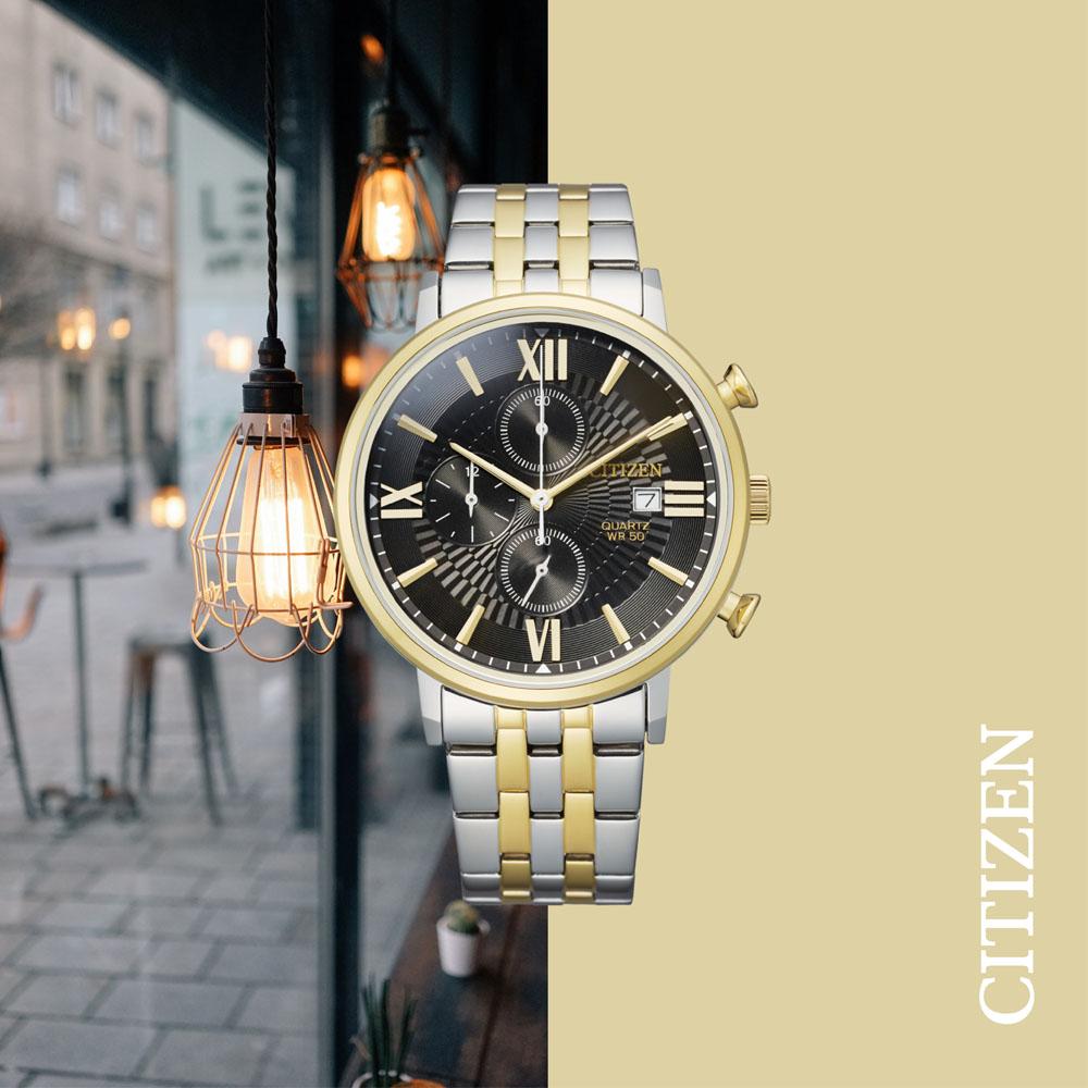 Citizen Quartz Chronograph AN3616-75E Two Tone Mens Watch