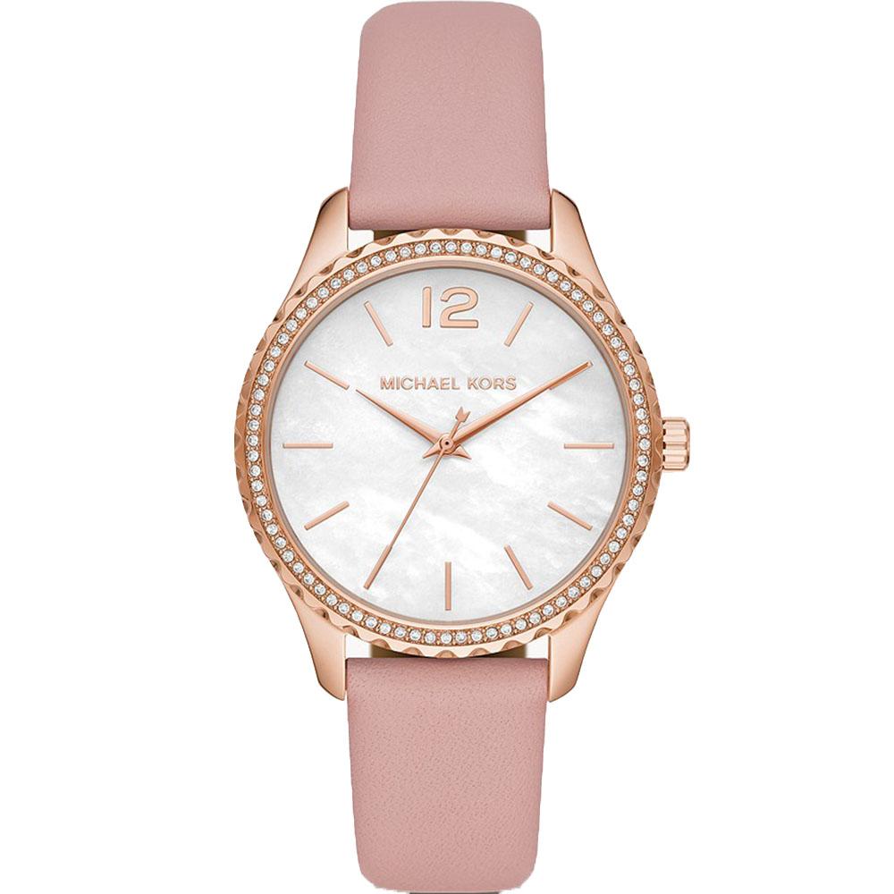 Michael Kors Layton MK2909 Pink Leather Band Watch