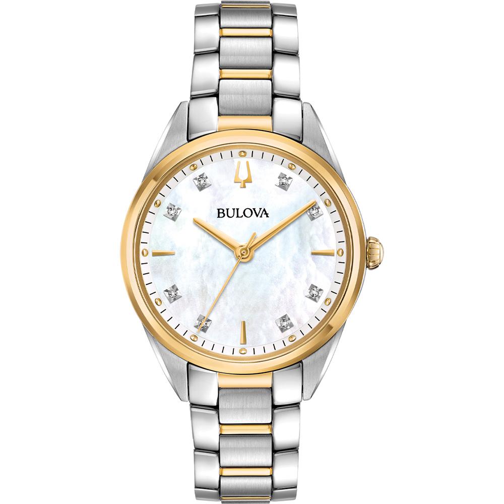 Bulova 98P184 Two Tone Diamond Set Womens Watch
