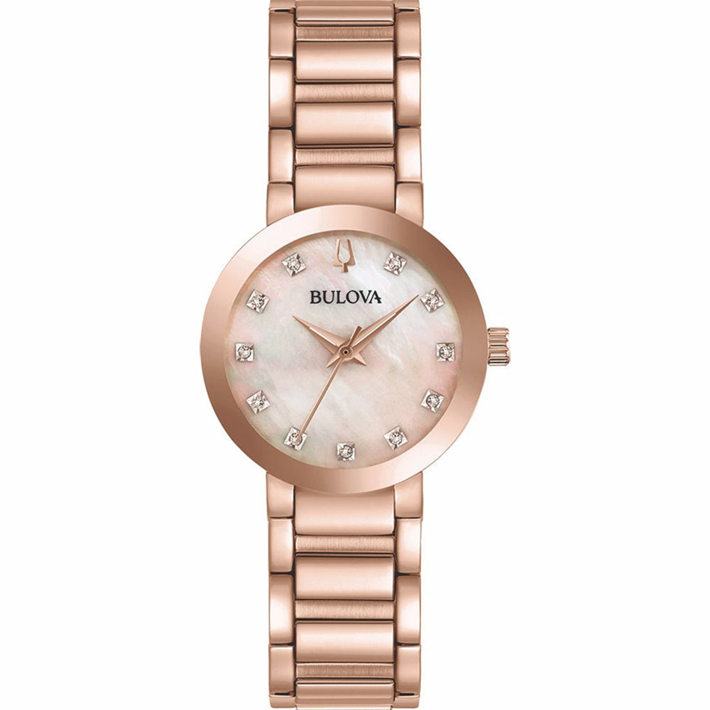 Bulova 97P132 Rose Diamond Womens Watch
